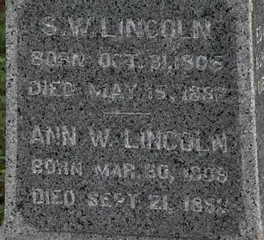 LINCOLN, S.W. - Lorain County, Ohio | S.W. LINCOLN - Ohio Gravestone Photos