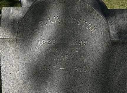 LIVINGSTON, L.R. - Lorain County, Ohio | L.R. LIVINGSTON - Ohio Gravestone Photos