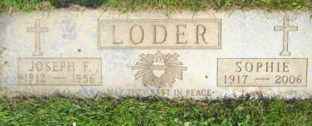 LODER, JOSEPH F. - Lorain County, Ohio | JOSEPH F. LODER - Ohio Gravestone Photos