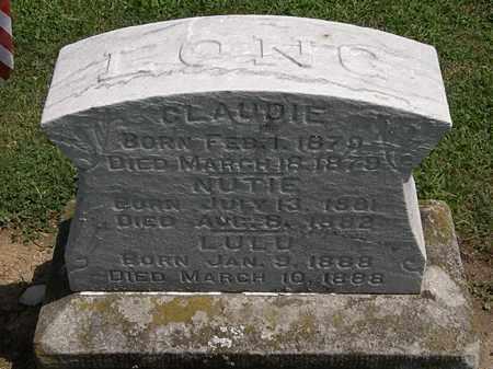 LONG, CLAUDIE - Lorain County, Ohio   CLAUDIE LONG - Ohio Gravestone Photos