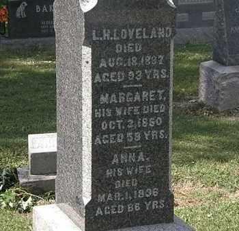 LOVELAND, L.H. - Lorain County, Ohio | L.H. LOVELAND - Ohio Gravestone Photos