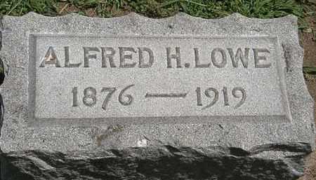 LOWE, ALFRED H. - Lorain County, Ohio   ALFRED H. LOWE - Ohio Gravestone Photos