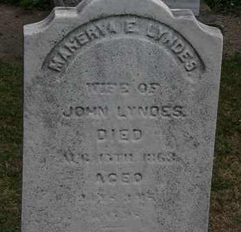 LYNDES, MANERVA - Lorain County, Ohio | MANERVA LYNDES - Ohio Gravestone Photos