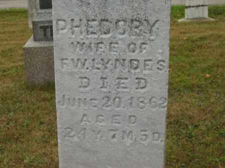 LYNDES, F. W. - Lorain County, Ohio | F. W. LYNDES - Ohio Gravestone Photos