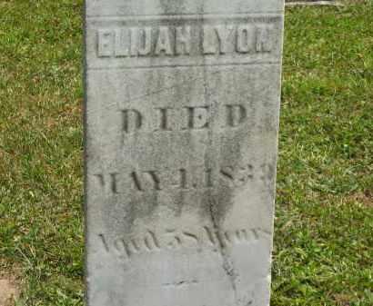 LYON, ELIJAH - Lorain County, Ohio | ELIJAH LYON - Ohio Gravestone Photos