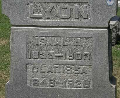 LYON, CLARISSA - Lorain County, Ohio | CLARISSA LYON - Ohio Gravestone Photos