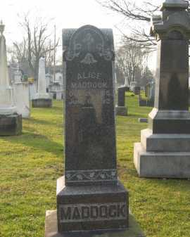 MADDOCK, ALICE - Lorain County, Ohio | ALICE MADDOCK - Ohio Gravestone Photos