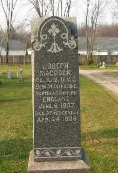 MADDOCK, JOSEPH - Lorain County, Ohio   JOSEPH MADDOCK - Ohio Gravestone Photos