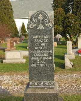 SAVAGE MADDOCK, SARAH ANN - Lorain County, Ohio | SARAH ANN SAVAGE MADDOCK - Ohio Gravestone Photos