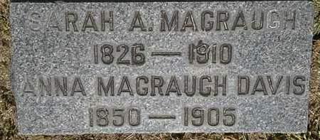 MAGRAUGH DAVIS, ANNA - Lorain County, Ohio   ANNA MAGRAUGH DAVIS - Ohio Gravestone Photos