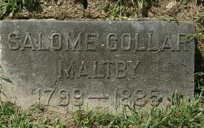 COLLAR MALTBY, SALOME - Lorain County, Ohio | SALOME COLLAR MALTBY - Ohio Gravestone Photos