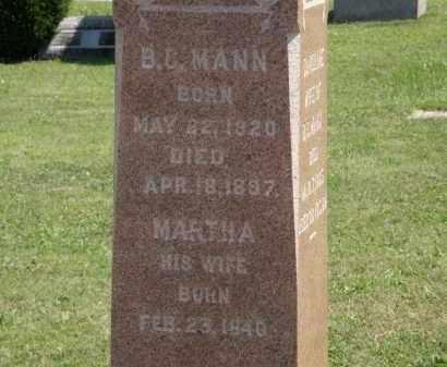 MANN, MARTHA - Lorain County, Ohio   MARTHA MANN - Ohio Gravestone Photos