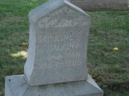 CALKINS MANN, CAROLINE - Lorain County, Ohio   CAROLINE CALKINS MANN - Ohio Gravestone Photos
