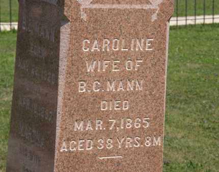 MANN, CAROLINE - Lorain County, Ohio | CAROLINE MANN - Ohio Gravestone Photos