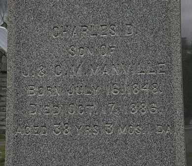 MANVILLE, CHARLES D. - Lorain County, Ohio | CHARLES D. MANVILLE - Ohio Gravestone Photos