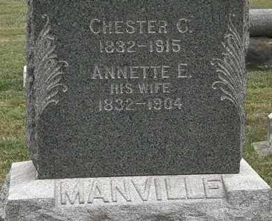 MANVILLE, CHESTER C. - Lorain County, Ohio | CHESTER C. MANVILLE - Ohio Gravestone Photos