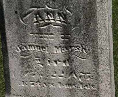 MARSH, ANN - Lorain County, Ohio   ANN MARSH - Ohio Gravestone Photos