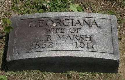 MARSH, GEORGIANA - Lorain County, Ohio | GEORGIANA MARSH - Ohio Gravestone Photos