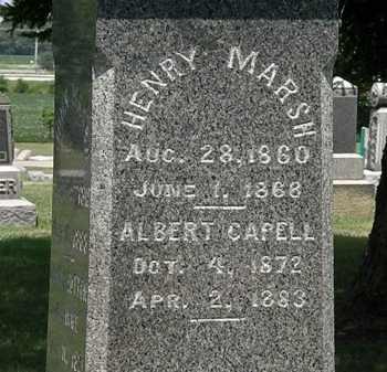 MARSH, ALBERT CAPELL - Lorain County, Ohio | ALBERT CAPELL MARSH - Ohio Gravestone Photos