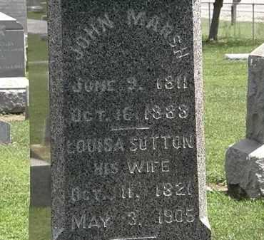 MARSH, JOHN - Lorain County, Ohio | JOHN MARSH - Ohio Gravestone Photos