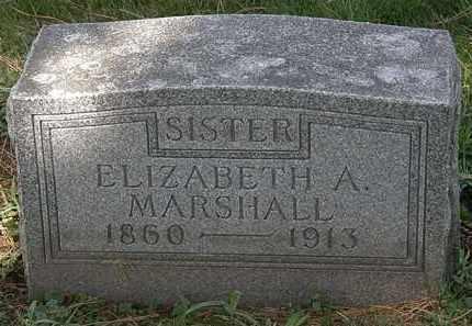 MARSHALL, ELIZABETH A. - Lorain County, Ohio   ELIZABETH A. MARSHALL - Ohio Gravestone Photos