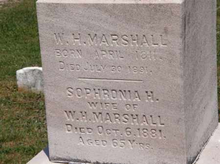 MARSHALL, W. H. - Lorain County, Ohio | W. H. MARSHALL - Ohio Gravestone Photos