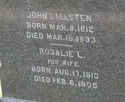 MASTEN, JOHN I. - Lorain County, Ohio   JOHN I. MASTEN - Ohio Gravestone Photos