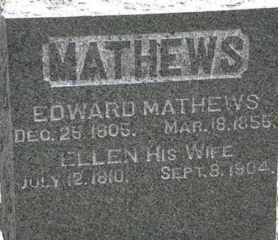 MATHEWS, ELLEN - Lorain County, Ohio | ELLEN MATHEWS - Ohio Gravestone Photos