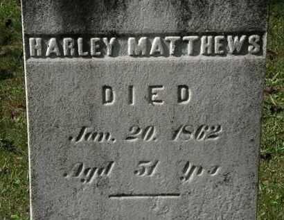 MATTHEWS, HARLEY - Lorain County, Ohio   HARLEY MATTHEWS - Ohio Gravestone Photos
