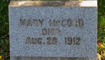 MCCORD, MARY - Lorain County, Ohio | MARY MCCORD - Ohio Gravestone Photos