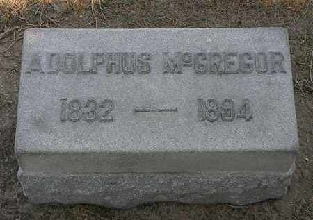 MCGREGOR, ADOLPHUS - Lorain County, Ohio | ADOLPHUS MCGREGOR - Ohio Gravestone Photos