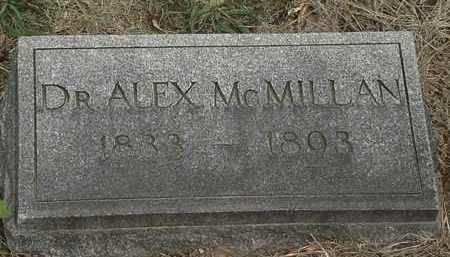 MCMILLAN, DR. ALEX - Lorain County, Ohio   DR. ALEX MCMILLAN - Ohio Gravestone Photos