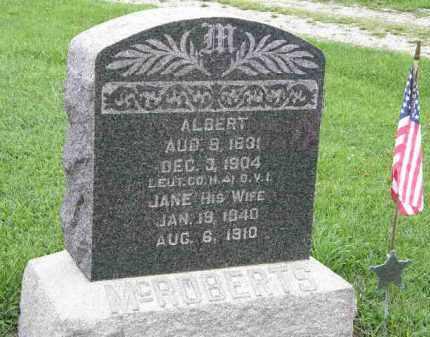 MCROBERTS, JANE - Lorain County, Ohio   JANE MCROBERTS - Ohio Gravestone Photos