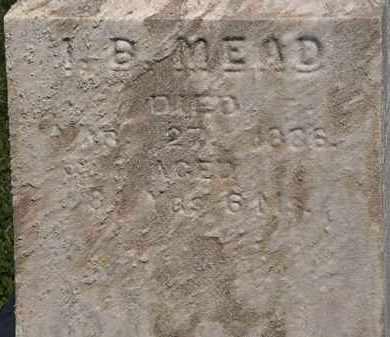 MEAD, I. B. - Lorain County, Ohio   I. B. MEAD - Ohio Gravestone Photos
