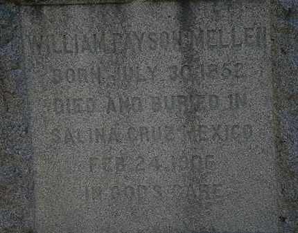 MELLEN, WILLIAM PEYSON - Lorain County, Ohio | WILLIAM PEYSON MELLEN - Ohio Gravestone Photos