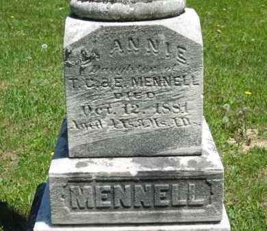 MENNELL, ANNIE - Lorain County, Ohio   ANNIE MENNELL - Ohio Gravestone Photos