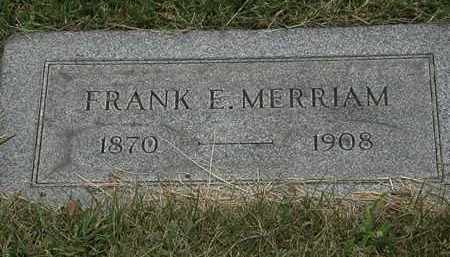 MERRIAM, FRANK E. - Lorain County, Ohio   FRANK E. MERRIAM - Ohio Gravestone Photos