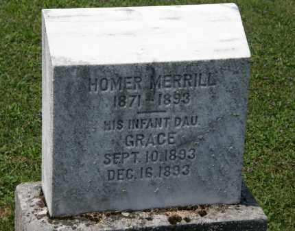 MERRILL, HOMER - Lorain County, Ohio | HOMER MERRILL - Ohio Gravestone Photos