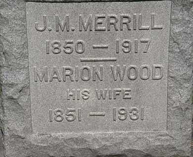 MERRILL, MARION - Lorain County, Ohio   MARION MERRILL - Ohio Gravestone Photos