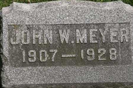 MEYER, JOHN W. - Lorain County, Ohio   JOHN W. MEYER - Ohio Gravestone Photos