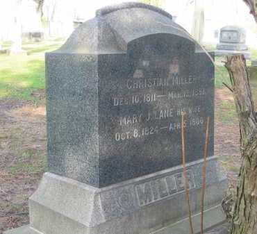 MILLER, CHRISTIAN - Lorain County, Ohio | CHRISTIAN MILLER - Ohio Gravestone Photos