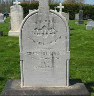 MITTENDORFF, ANNA - Lorain County, Ohio | ANNA MITTENDORFF - Ohio Gravestone Photos