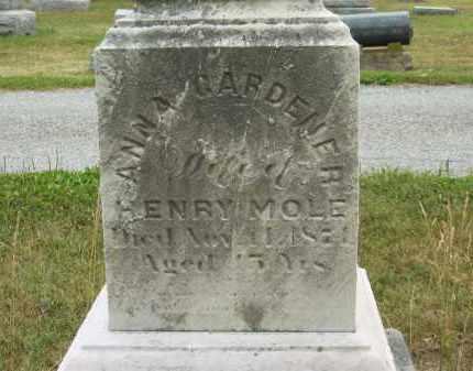 GARDNER MOLE, ANNA - Lorain County, Ohio | ANNA GARDNER MOLE - Ohio Gravestone Photos