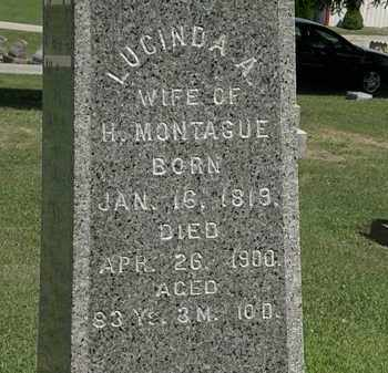 MONTAGUE, LUCIND A. - Lorain County, Ohio | LUCIND A. MONTAGUE - Ohio Gravestone Photos