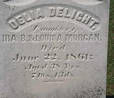 MORGAN, DELIA DELIGHT - Lorain County, Ohio | DELIA DELIGHT MORGAN - Ohio Gravestone Photos