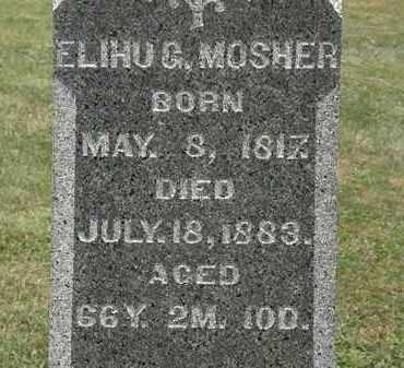 MOSHER, ELIHU G. - Lorain County, Ohio | ELIHU G. MOSHER - Ohio Gravestone Photos