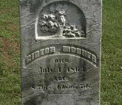 MOSHER, GIDEON - Lorain County, Ohio | GIDEON MOSHER - Ohio Gravestone Photos