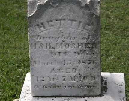 MOSHER, HETTIE - Lorain County, Ohio   HETTIE MOSHER - Ohio Gravestone Photos