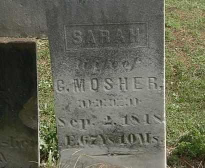 MOSHER, G. - Lorain County, Ohio | G. MOSHER - Ohio Gravestone Photos