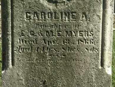 MYERS, CAROLINE A. - Lorain County, Ohio | CAROLINE A. MYERS - Ohio Gravestone Photos